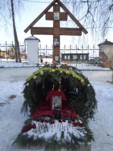 Могила мученика, убиенного иерея Олега Ступичкина.