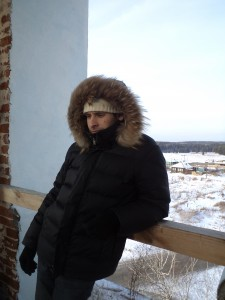 Певчий Георгий, на колокольне.